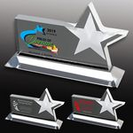 Custom Clear Horizontal Acrylic Star Award - Screen Printed