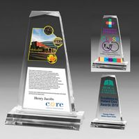 Multi-Faceted Acrylic Tapered Award - 4 Color Process