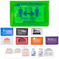 10 Piece Economy First Aid Kit in Colorful Vinyl Pouch - Spot Color