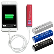 In Charge Alloy UL Aluminum 2200 mAh Portable Power Bank Charger