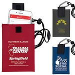 Custom Cell Phone & ID Holder Wallet w/ Carabiner & Breakaway Safety Lanyard