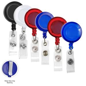 Blank 30 Retractable Badge Reel w/ Metal Slip Clip Back