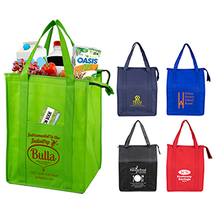Super Cooler Large Insulated Cooler Zipper Tote Bag