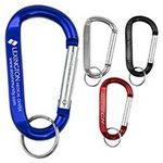 Custom Large Size Carabiner Keyholder w/ Split Ring Attachment