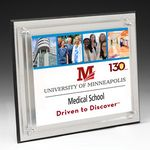 Custom Medium Brushed Aluminum Plaque w/4-Color Process (8