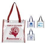 Custom Clear Vinyl Stadium Compliant Tote Bag