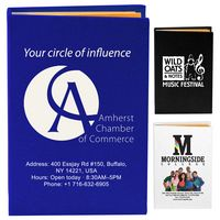 """""""Atherton"""" Compact Sticky Notes & Flags Notepad Notebook (Screen Print)"""