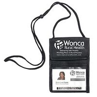 """Networker"" Non-Woven Econo 5 Function Trade Show Badge Holder & Neck Wallet (Overseas)"