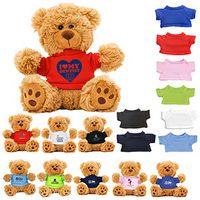 """""""Ted T. Bear"""" 6"""" Plush Teddy Bear w/Choice of T-Shirt Color"""
