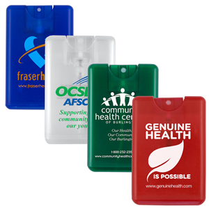20 ml. Antibacterial Hand Sanitizer Spray in Credit Card Shape Bottle - Direct Print