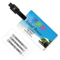 Stock Beach Scene PhotoImage Full Color Imprint Luggage Bag Tag with Printed ID Panel