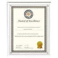 "Large Magnetic Clear on Clear Acrylic Certificate Frame (10 1/4""x 12 1/4""x 3/8"")"