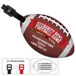 Custom Stock Shape Jumbo Football Luggage Bag Tag with Printed ID Panel