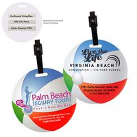 Stock Mini Beach Ball Luggage Bag Tag with Printed ID Panel