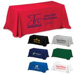 Custom 8' 3-Sided Economy Table Covers & Table Throws (Spot Color Print) / Fit 8 Foot Table