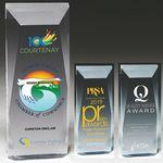 Custom Faceted Obelisk Acrylic Award - Laser Engraved (3