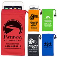 """Clean-n-Carry"" Drawstring Pouch for Cell Phones & More"