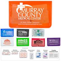 15 Piece Economy First Aid Kit in Colorful Vinyl Pouch
