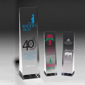Angled Obelisk Award (7 3/4x2 1/2x2) - Screen Printed