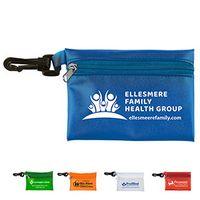 """Bali"" Translucent Zipper Storage Pouch Bag w/Plastic Hook"