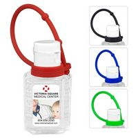 """SanPal Connect"" 1.0 Oz. Compact Hand Sanitizer Antibacterial Gel w/ Silicone Leash"