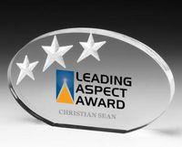 Oval Deep Etch Award - Laser Engraved