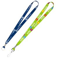 3/4 Inch Super Soft Polyester Multi-Color Sublimation Lanyard