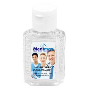 SanPal 1 Oz. Compact Hand Sanitizer Antibacterial Gel in Flip-Top Squeeze Bottle (Label)