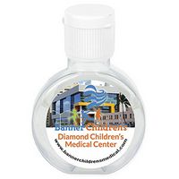 """CirPal Plus"" 2 Oz. Compact Hand Sanitizer Antibacterial Gel in Round Flip-Top Squeeze Bottle"