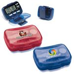 Custom Multi Function Step Counter Pedometer w/ Hinged Cover (Full Color)