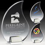 Custom Flame Acrylic Award w/Chrome Base - Laser Engraved
