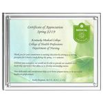 Custom Magnetic Clear on Clear Acrylic Certificate Frame (13