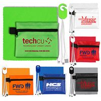 """""""ReCharge Zip"""" Mobile Tech Charging Cables in Zipper Pouch"""