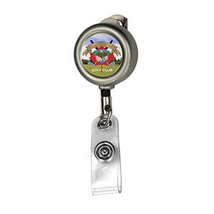 Solid Metal Retractable Badge Reel & Badge Holder