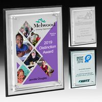 Tall Brushed Aluminum Plaque - 4 Color Process