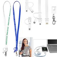 """Layton"" 3-in-1 Lanyard Cell Phone Charging Cable"