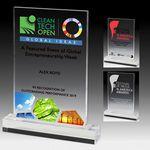 Custom Elegant Rectangle Acrylic Award w/4-Color Process (5