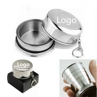 150ml-5OZ Stainless Steel Travel Folding Cup