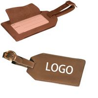Leather Luggage Tag Holders