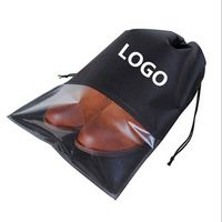 Travel Drawstring Clear PVC Visible Shoe Bag