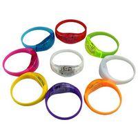 Flashing LED Silicone Wristbands