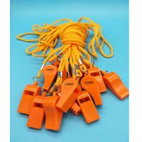 Plastic Whistle With Nylon String