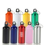 Custom 20 oz Aluminum Sport Water Bottle w/ Carabiner Clip 20 oz Aluminum Sport Water Bottle w/ Carabiners