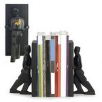 Custom Kikkerland Pushing Men Bookends