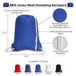 Custom Jersey Mesh Drawstring Backpack