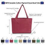 Seaside Cotton Pigment Dyed Boat Tote