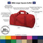 Custom Large Square Duffel