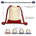 Custom Cape Cod Cotton Drawstring Bag