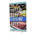Custom Economy Retractable Banner Stand, 1-Sided, (78.7