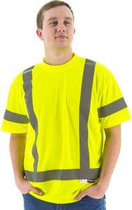 Custom High Visibility Yellow Short Sleeve Shirt, ANSI 3, Type R
